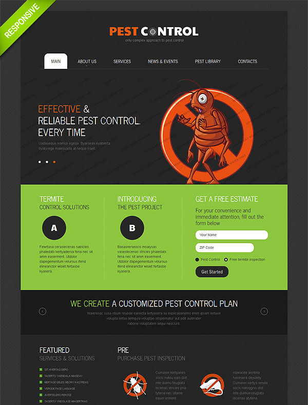 modern elegant pest control web design for a company in united states design 10470547