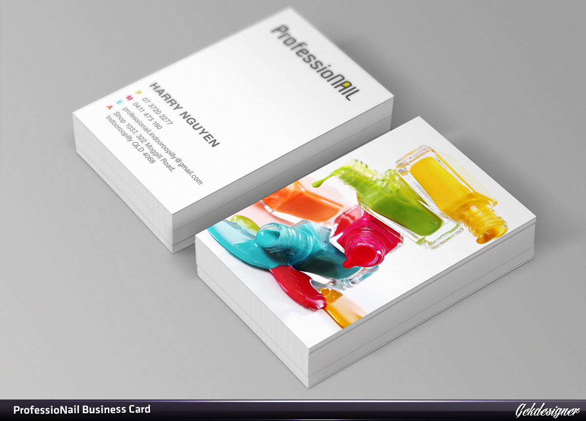 Masculine, Upmarket, Industry Business Card Design for ProfessioNAIL ...