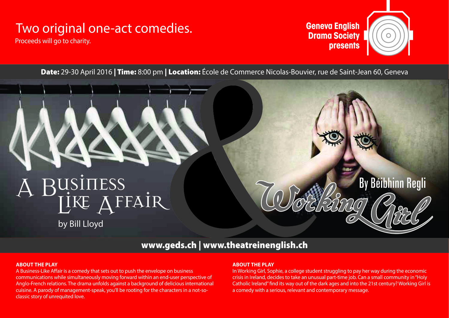 Poster design job description - Poster Design By Pix2ink For Two One Act Plays Split Poster Design Design