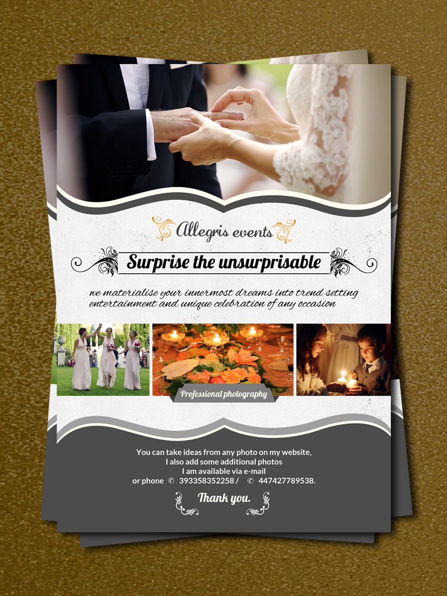 elegant  professional  event planning flyer design for a company by debdesign