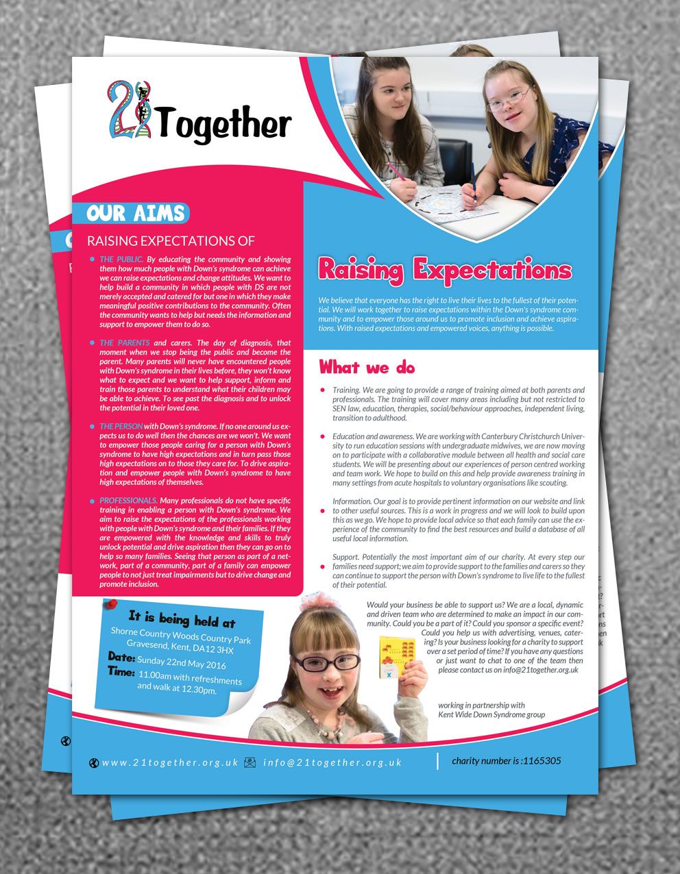 modern upmarket charity flyer design for a company by hih7