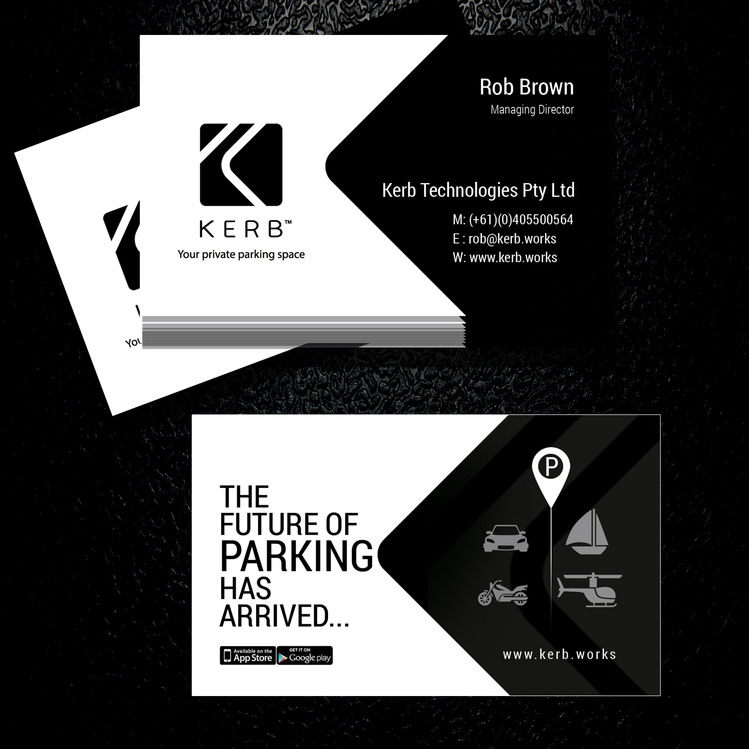 business card design for robert brown by uk