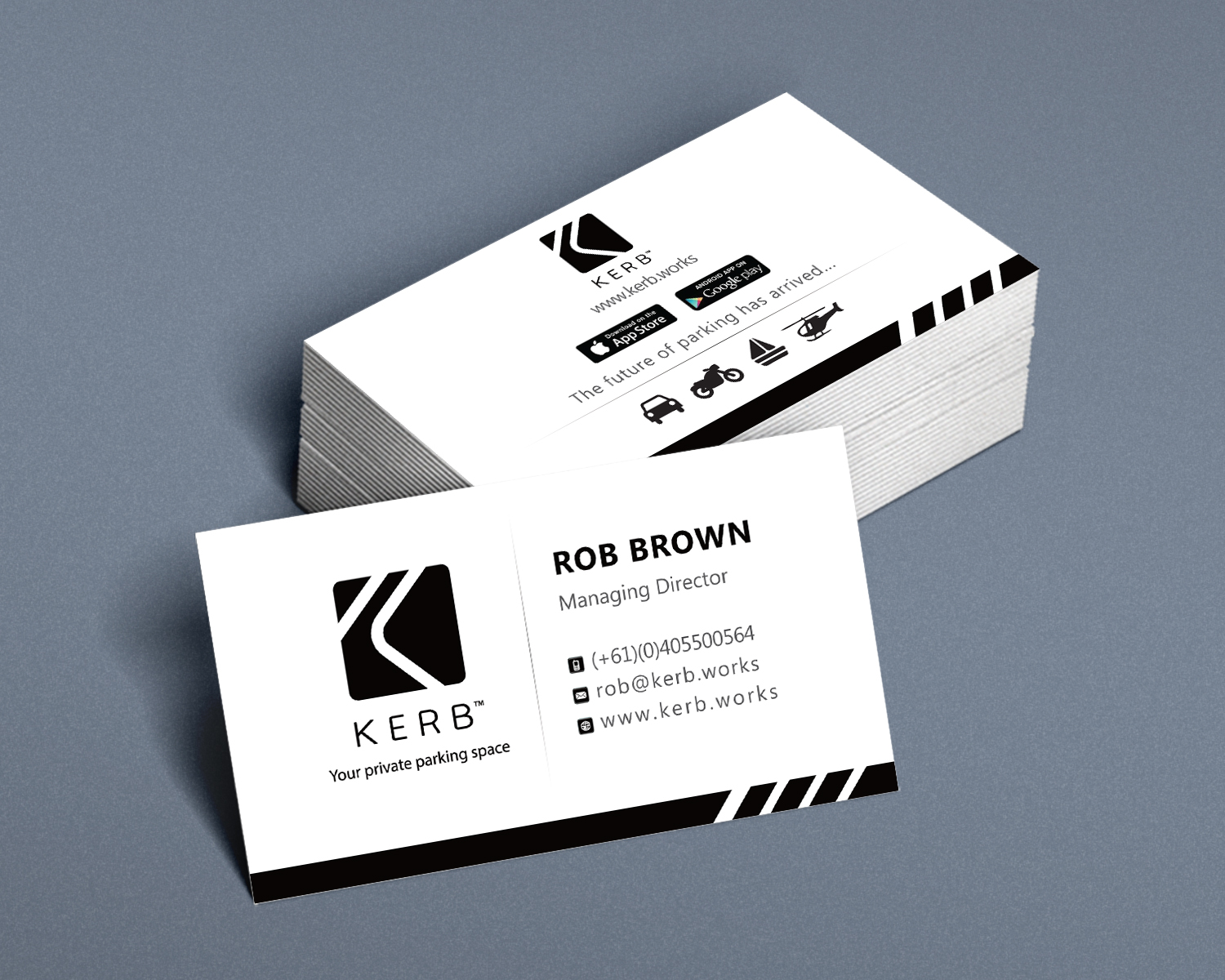 Business Card Design for Robert Brown by Kreative Fingers