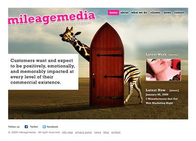 Cartoon Wordpress Page Design 19242