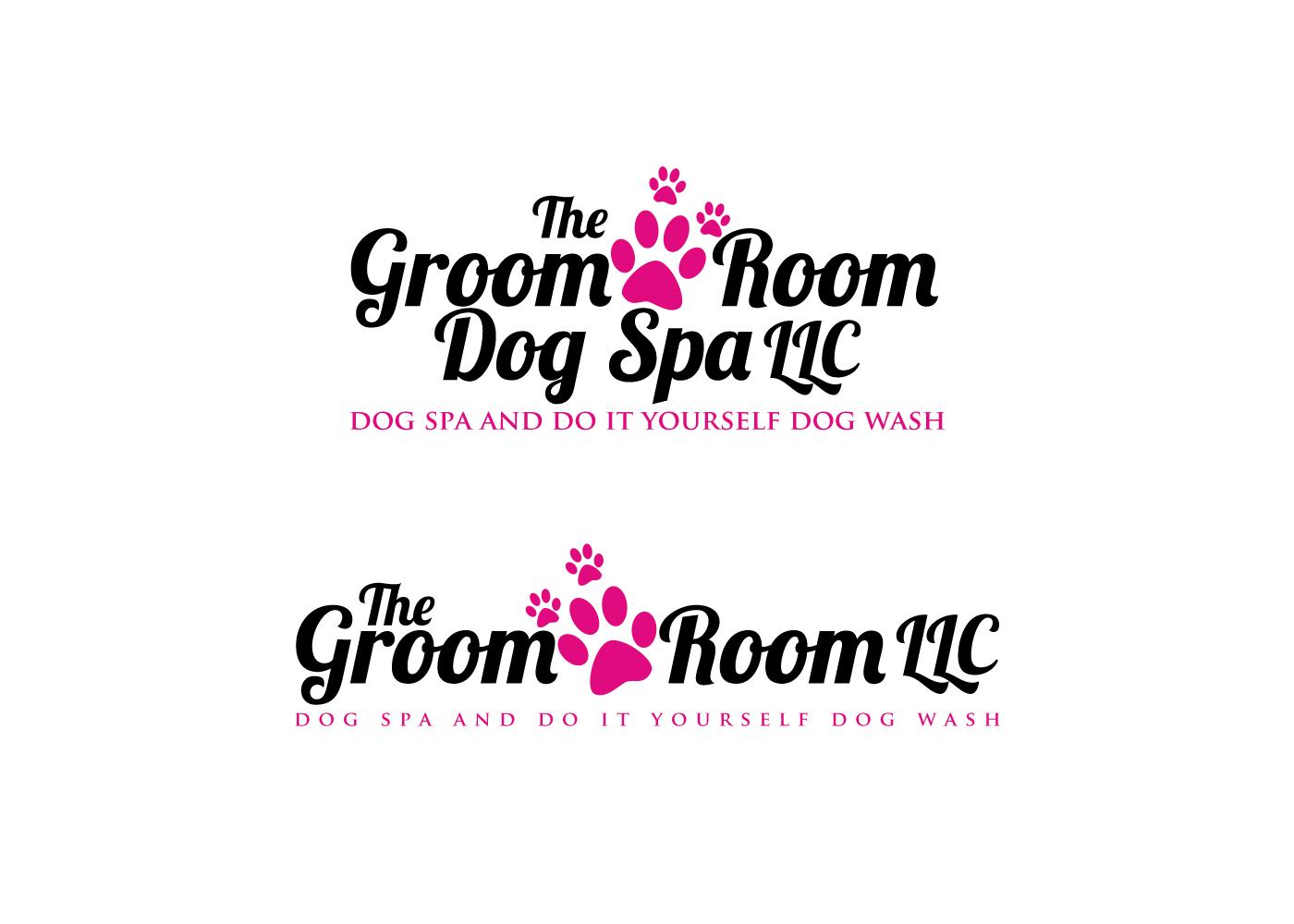 Elegant playful logo design for chickasha dog house by pixelart logo design by pixelart for the groom room llc dog spa and do it solutioingenieria Choice Image