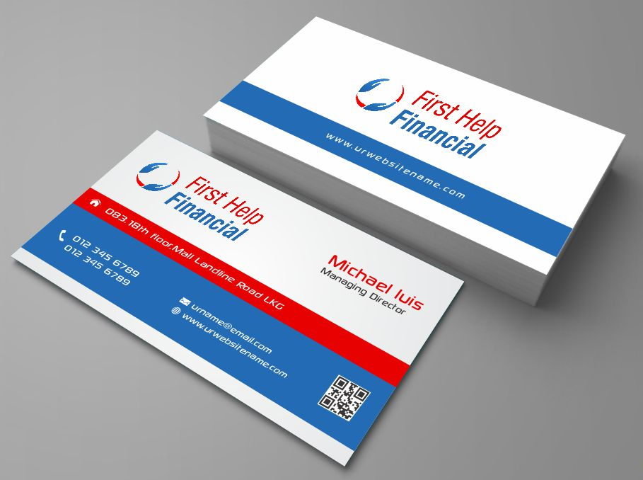 Serious, Professional, Business Business Card Design for First Help ...