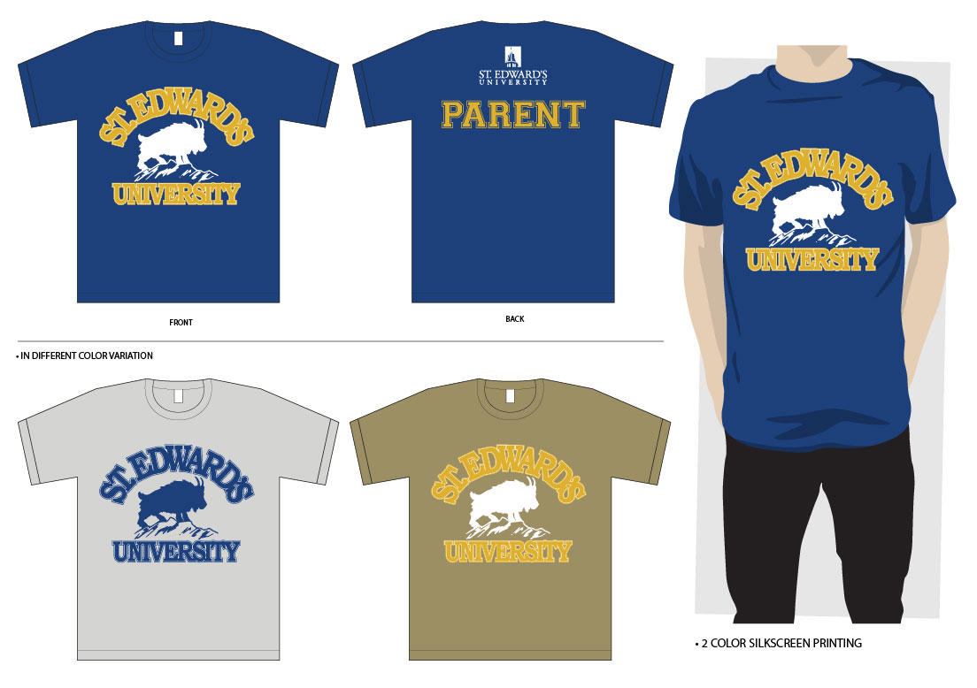 Bold Traditional University T Shirt Design For A Company By