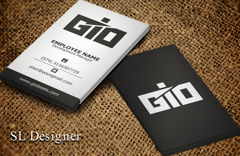 Upmarket masculine music download business card design for business card design by sl designer for geotecnica design 10290552 colourmoves