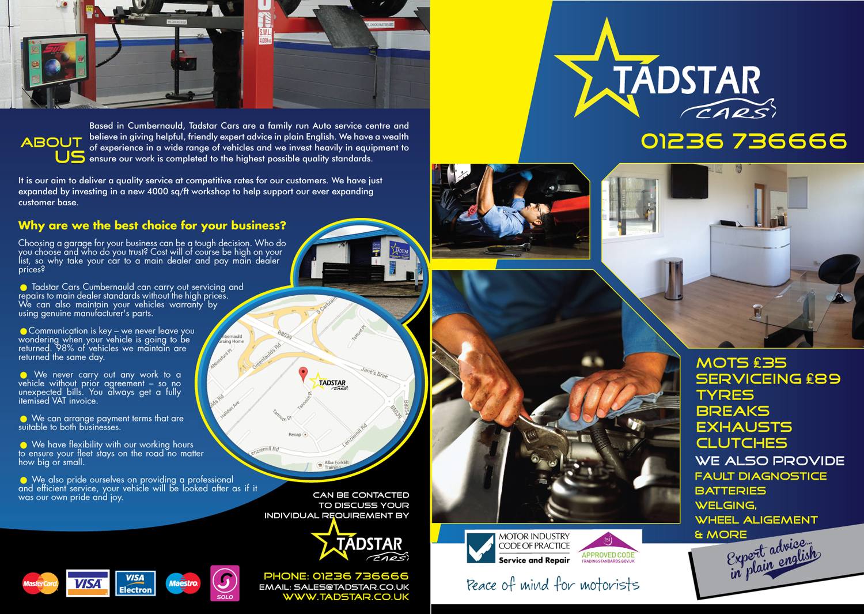 Design car repair workshop - Brochure Design By Black Stallions Impressive Solutions For Brochure Design Project Tadstar Cars Auto Repair