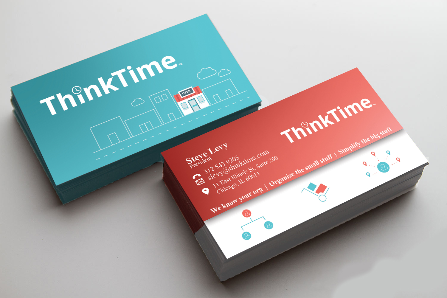 Bold, Modern Business Card Design for ThinkTime by th.evensen ...