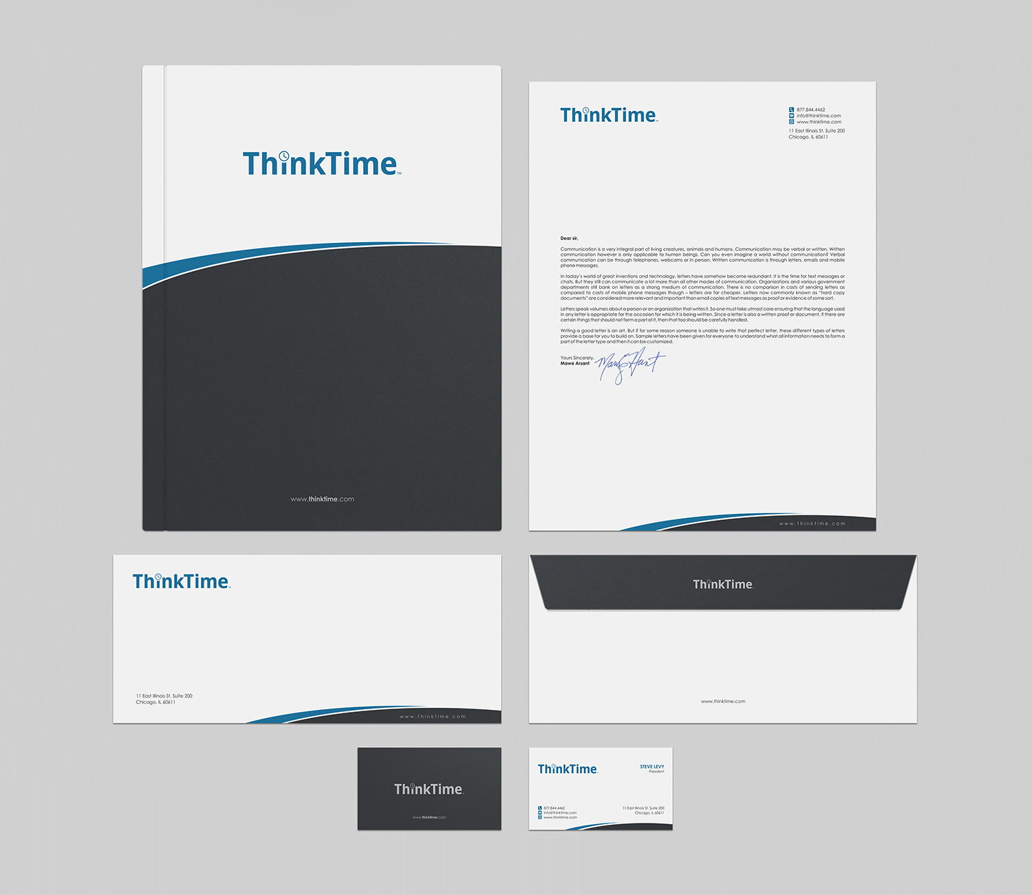 Bold, Modern, Software Business Card Design for ThinkTime by ...