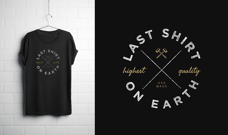 2cdd8dd1 Masculine, Upmarket, It Company Logo Design for Last Shirt on Earth ...