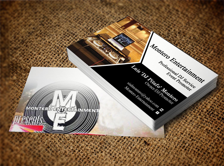 Design De Carte Visite Masculin Moderne Entertainment Pour A Company En Aux United States