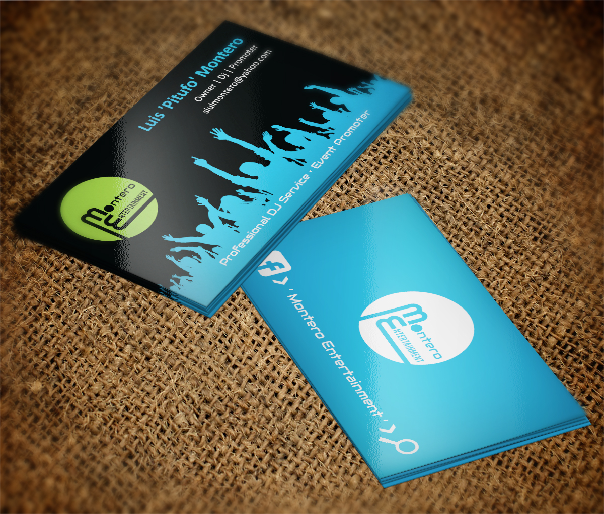 Masculine, Modern, Entertainment Business Card Design for a Company ...