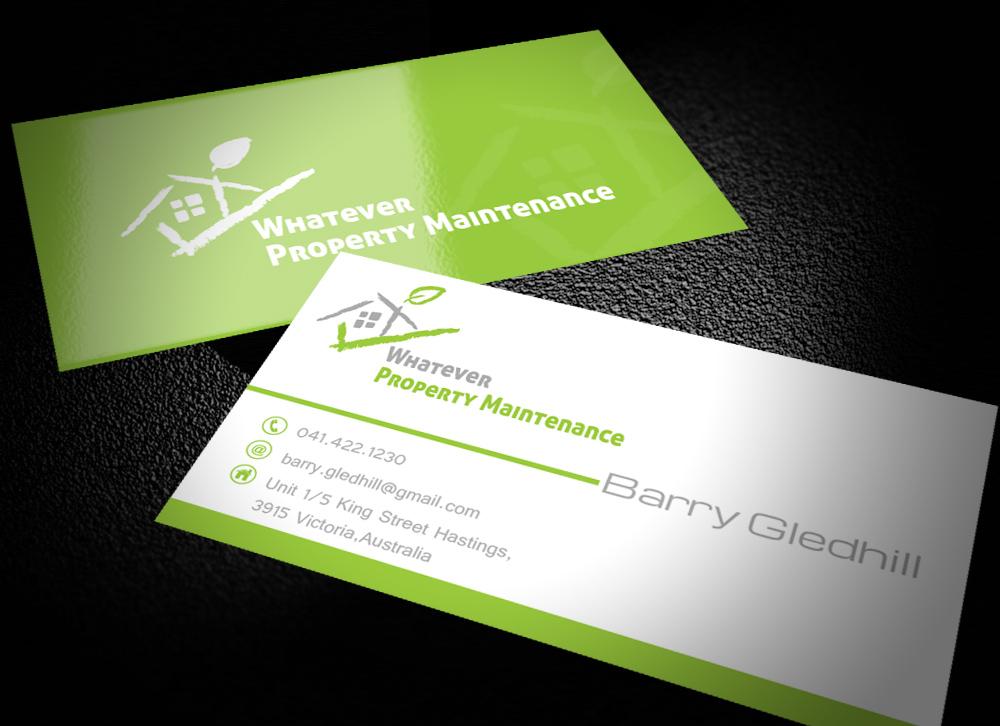 33 elegant business card designs property maintenance business business card design by design for whatever property maintenance design 10321302 reheart Gallery