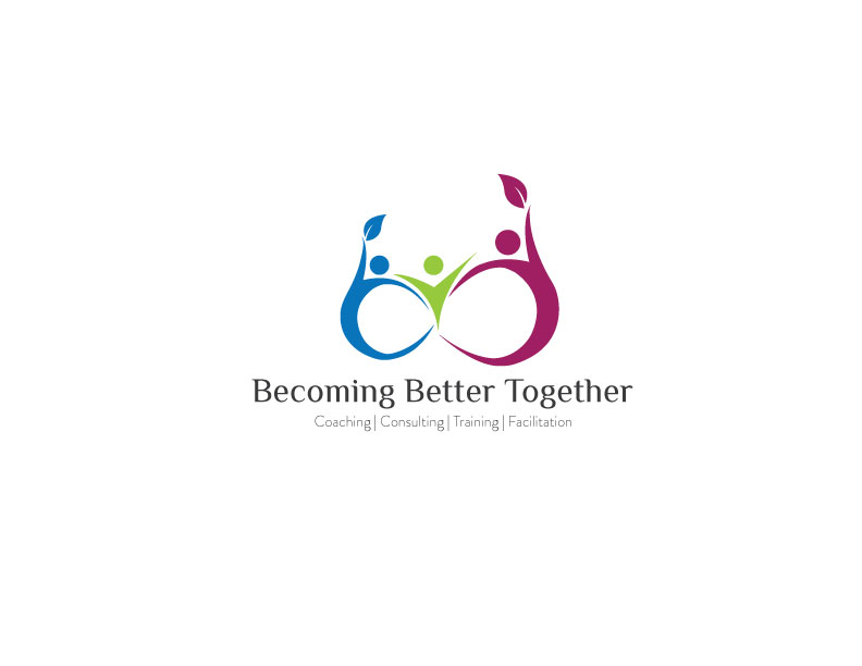 colorful playful life coaching logo design for becoming
