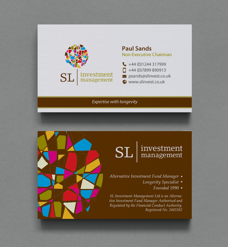 Upmarket serious financial service business card design for sl business card design by chandrayaaneative for sl investment management design 10310130 colourmoves