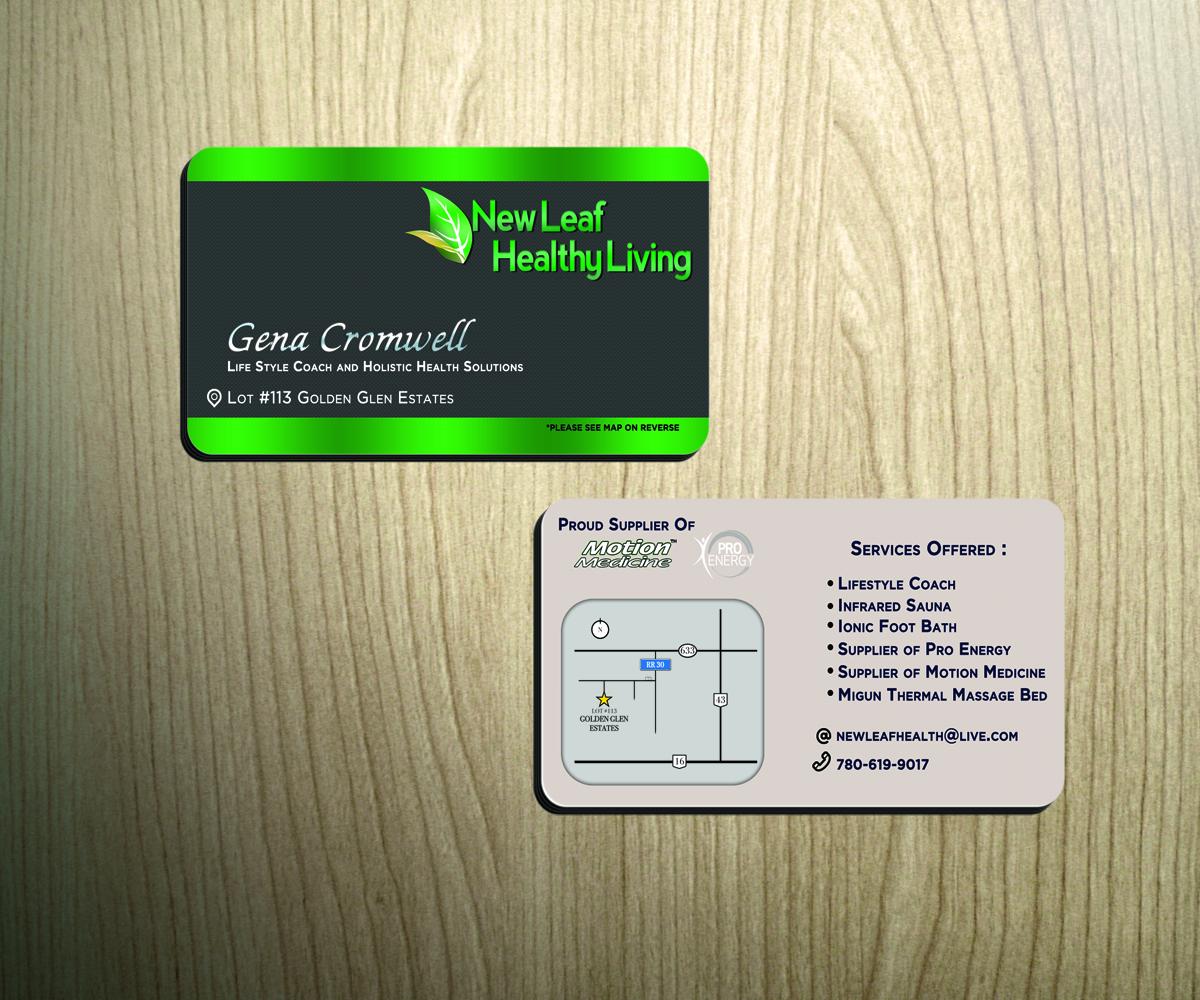 Elegant, Playful, Massage Business Card Design for New Leaf Healthy ...