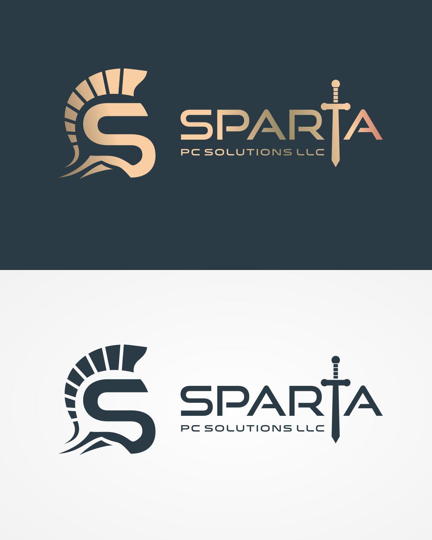 professional masculine logo design for sparta pc