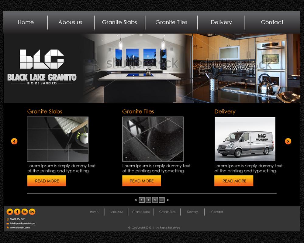 Masculine bold business web design for ledagt by for Masculine web design
