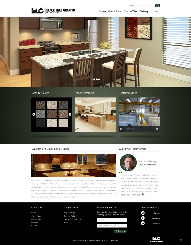 Masculine bold business web design for ledagt by pb for Masculine web design