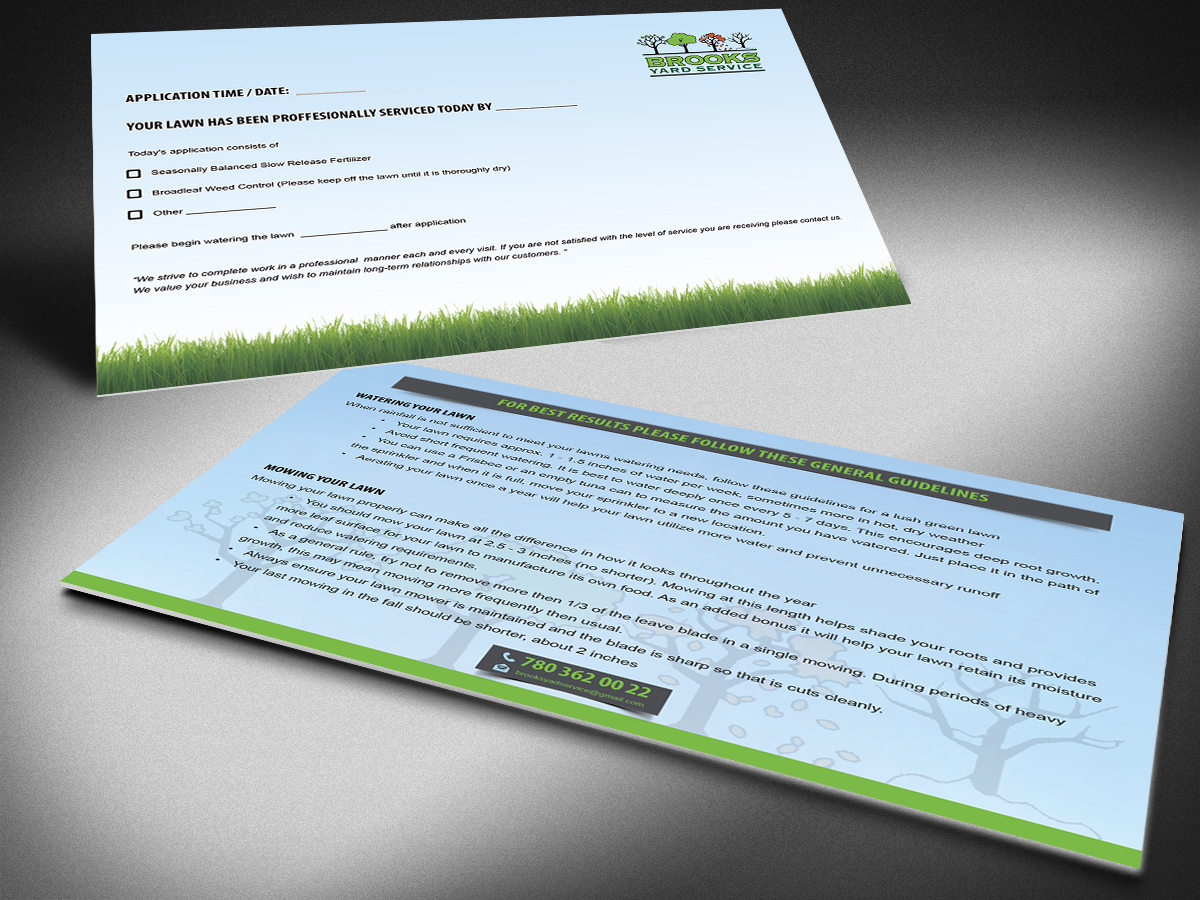 serious colorful lawn care flyer design for brooks yard service by