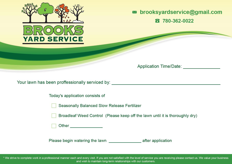flyer design by gentle man for brooks yard service design 10337553