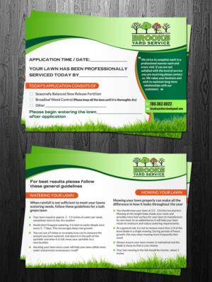 flyer design by debdesign for brooks yard service design 10370457