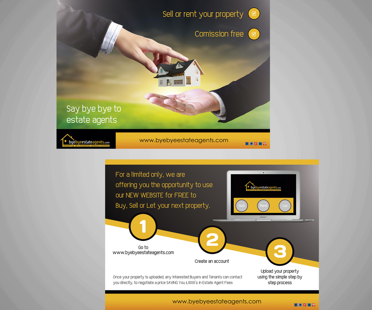 serious modern real estate flyer design for syama by boxagency