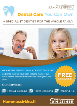 Advertisement Design 10430931 Submitted To Dental Care For Hole Family Announcement
