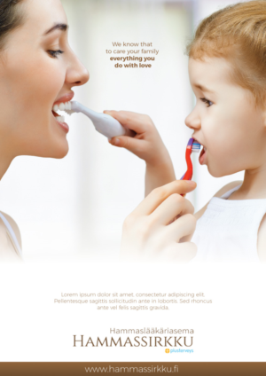 Advertisement Design 10365075 Submitted To Dental Care For Hole Family Announcement