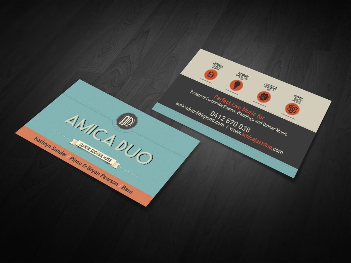 Economical, Elegant, Business Business Card Design for Mood+Music+ ...
