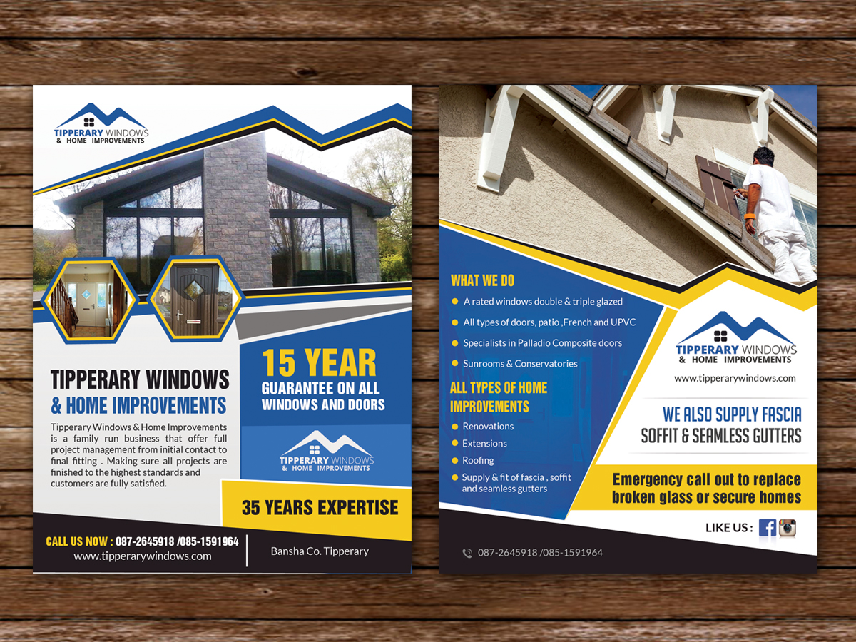 Flyer Design By Hih7 For Tipperary Windows U0026amp;amp;amp; Home Improvements