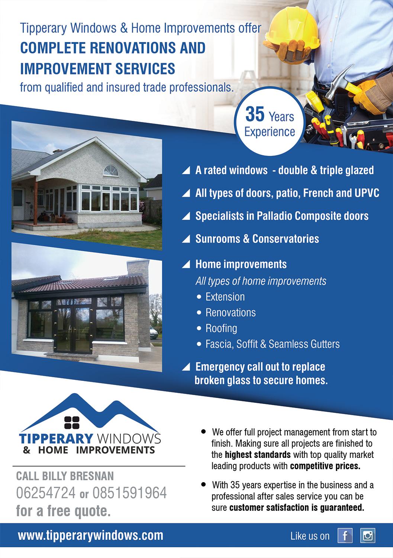 home improvement design. Flyer Design By Akshar Shailesh For Tipperary Windows \u0026 Home Improvements | #10365020 Improvement O