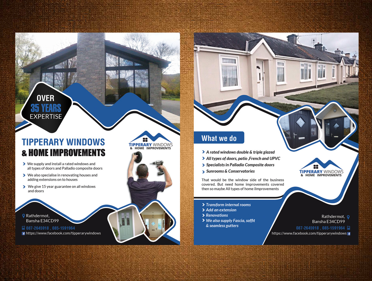 Flyer Design By Creative.bugs For Tipperary Windows U0026amp;amp;amp; Home