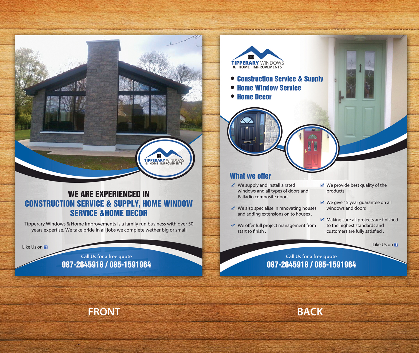 Business Flyer Design For Tipperary Windows Home Improvements By