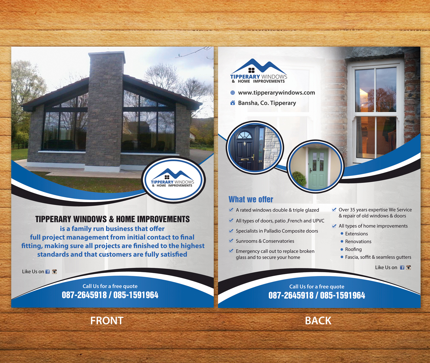 Flyer Design For Tipperary Windows U0026 Home Improvements By Aspiremedia