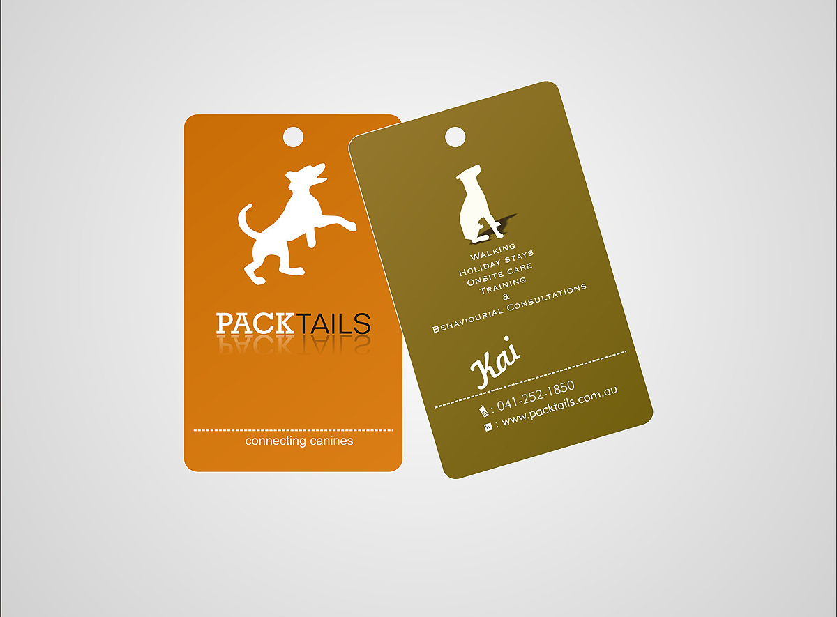 Dog training business card design for a company by anil for Dog trainer business card