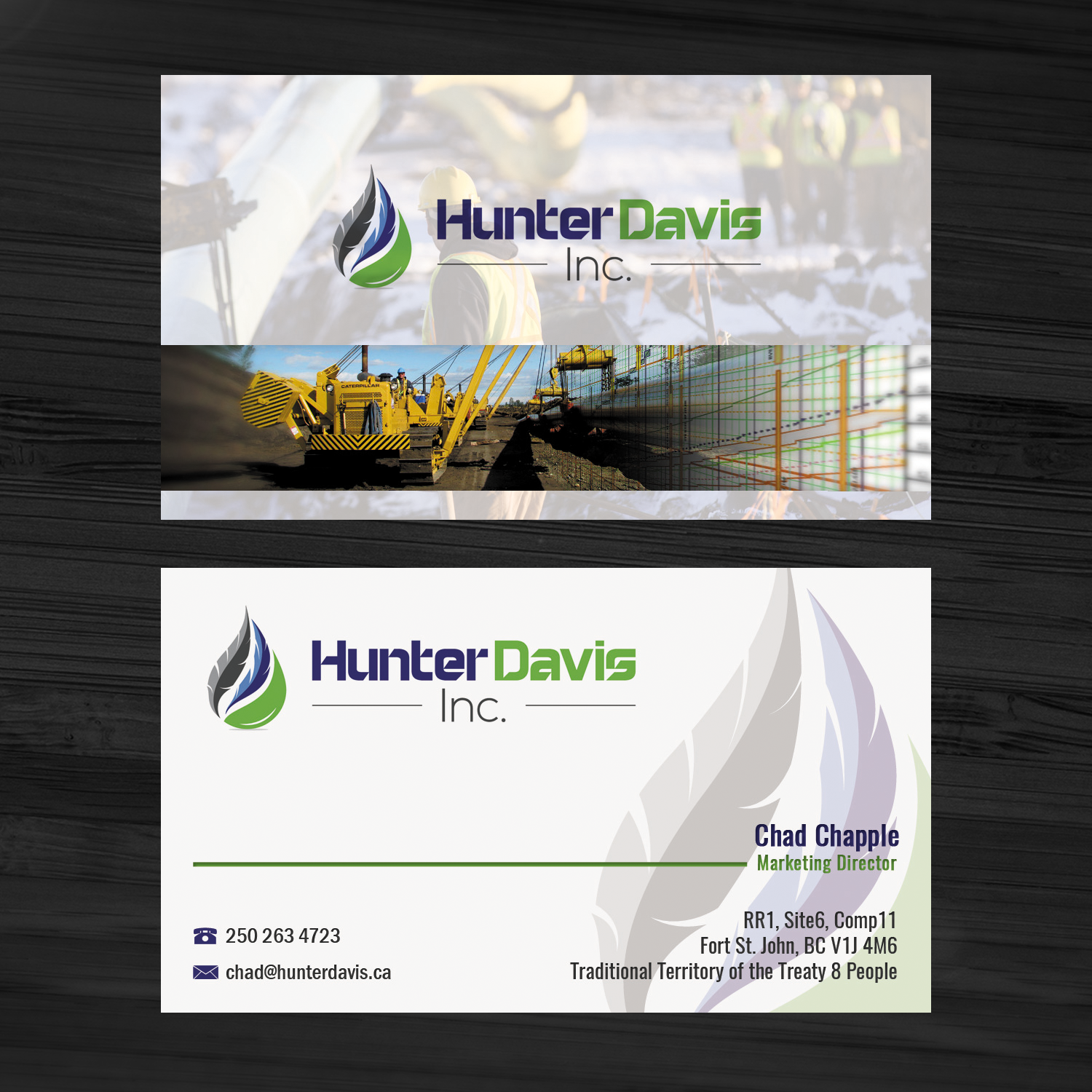 Professional, Bold Business Card Design for HunterDavis Inc by ...
