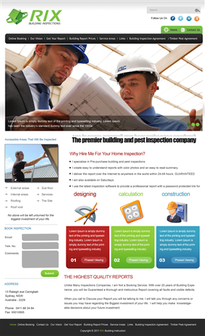 Web Design by pb - Rix Building Inspections Needs a professional e...