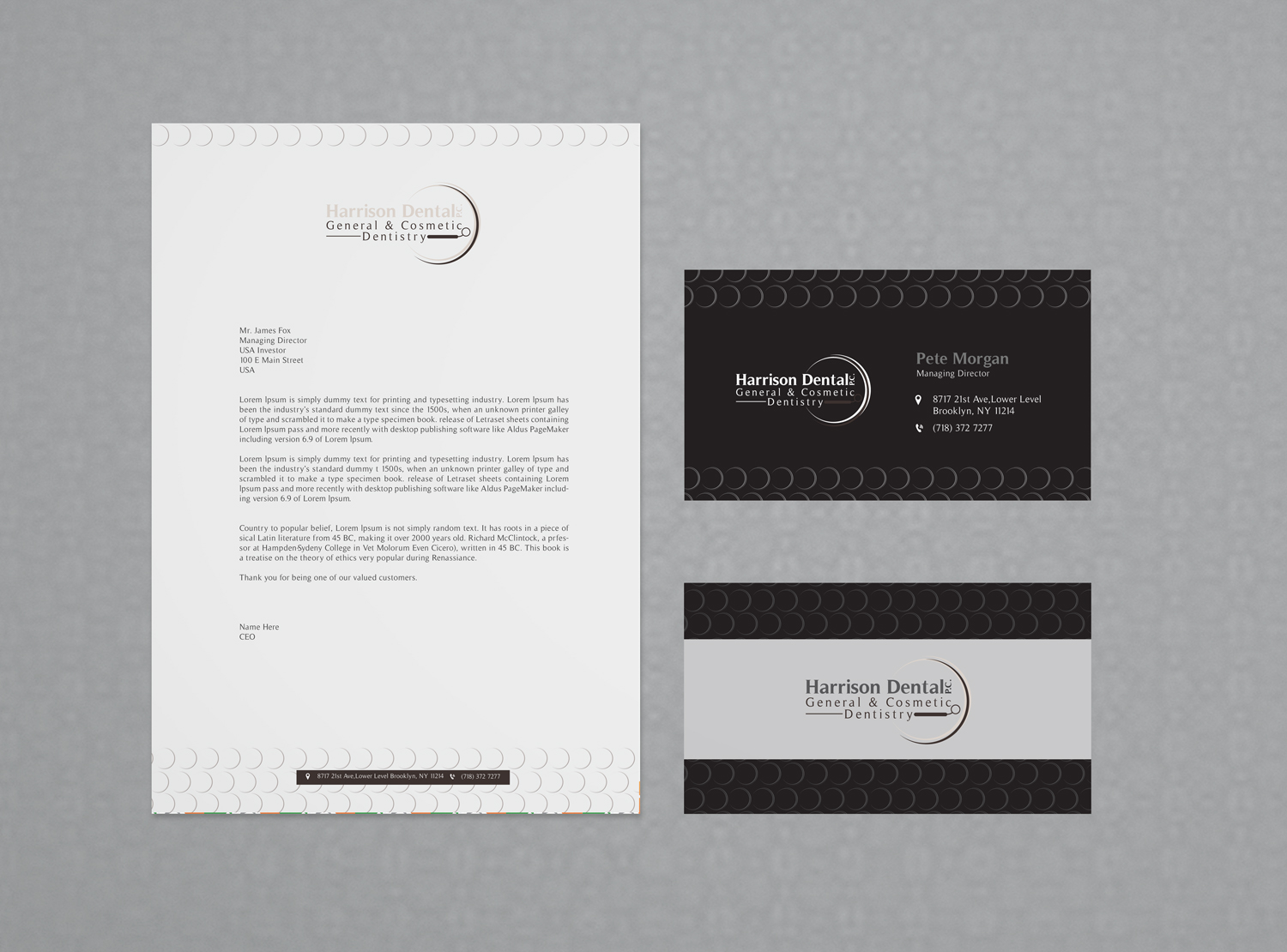 Upmarket, Serious Stationery Design for Peter Harrison by asimali ...