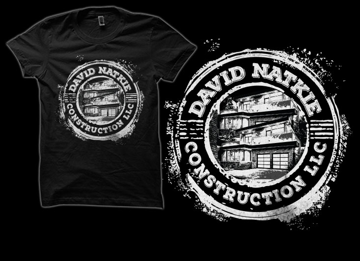 Professional, Masculine, Home Builder T Shirt Design For David Natkie  Construction In United States | Design 10411095