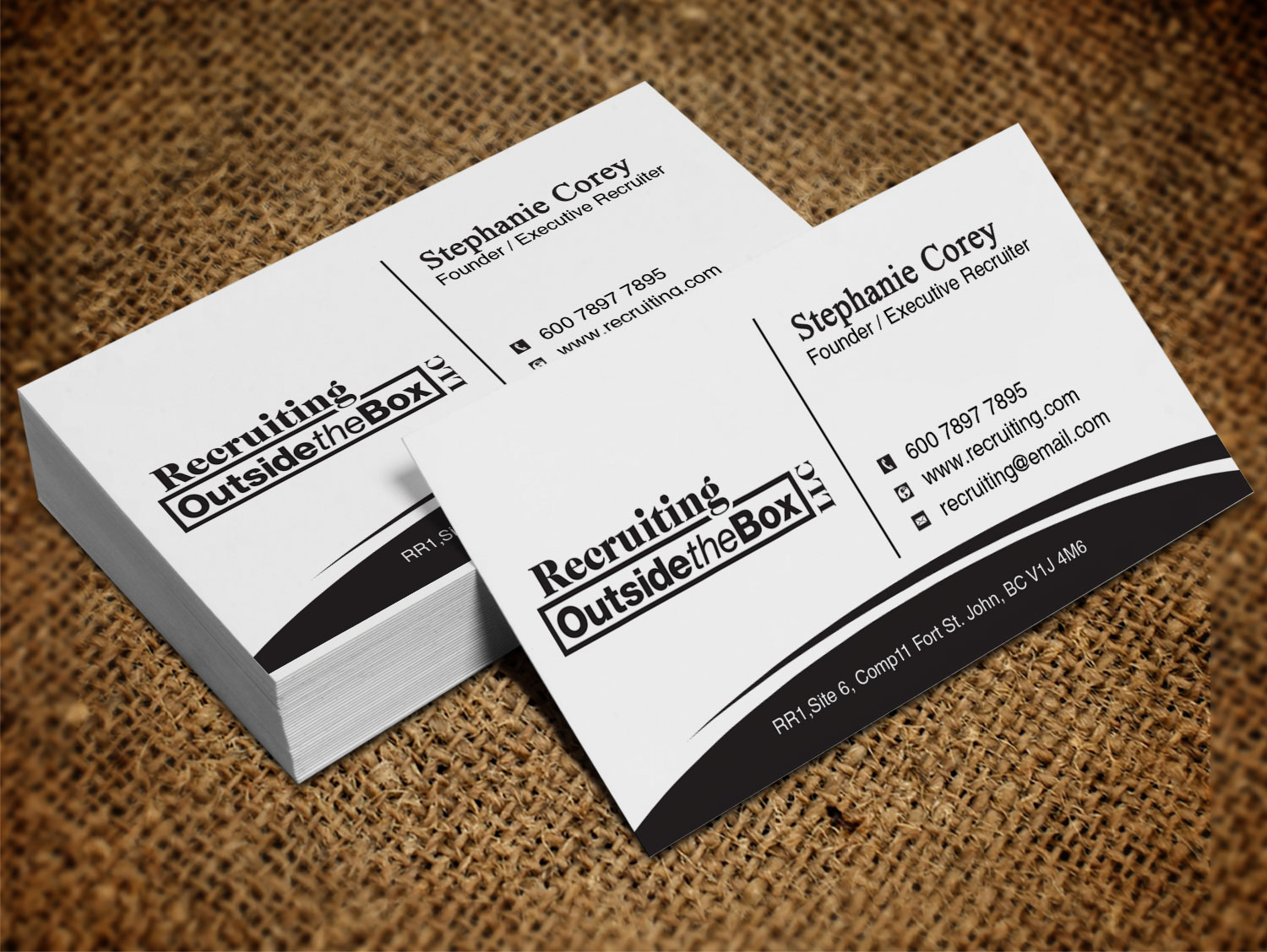 Business card design for recruiting outside the box llc by lanka business card design by lanka ama for boutique recruiting firm needs eye catching business cards magicingreecefo Gallery