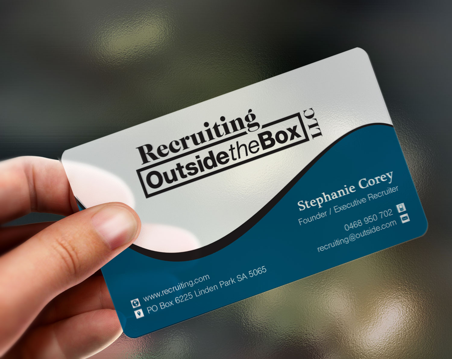 Business business card design for recruiting outside the box llc by business business card design for recruiting outside the box llc in united states design 10376345 colourmoves