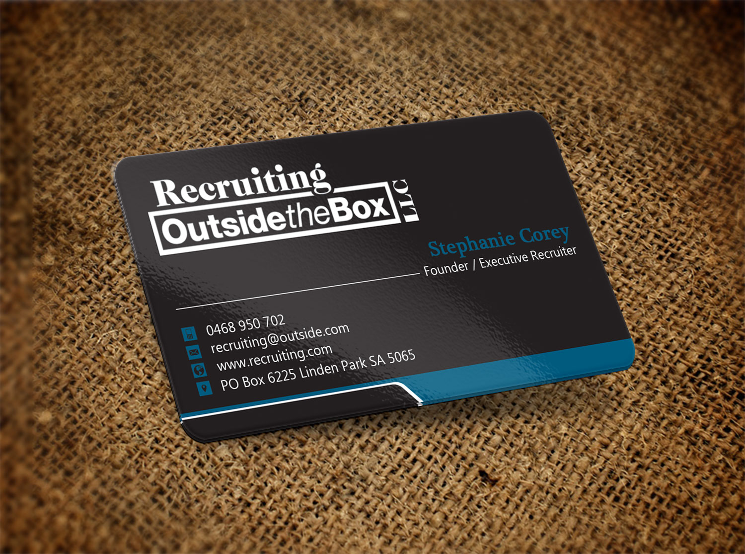 Business business card design for recruiting outside the box llc by business business card design for recruiting outside the box llc in united states design 10376347 colourmoves