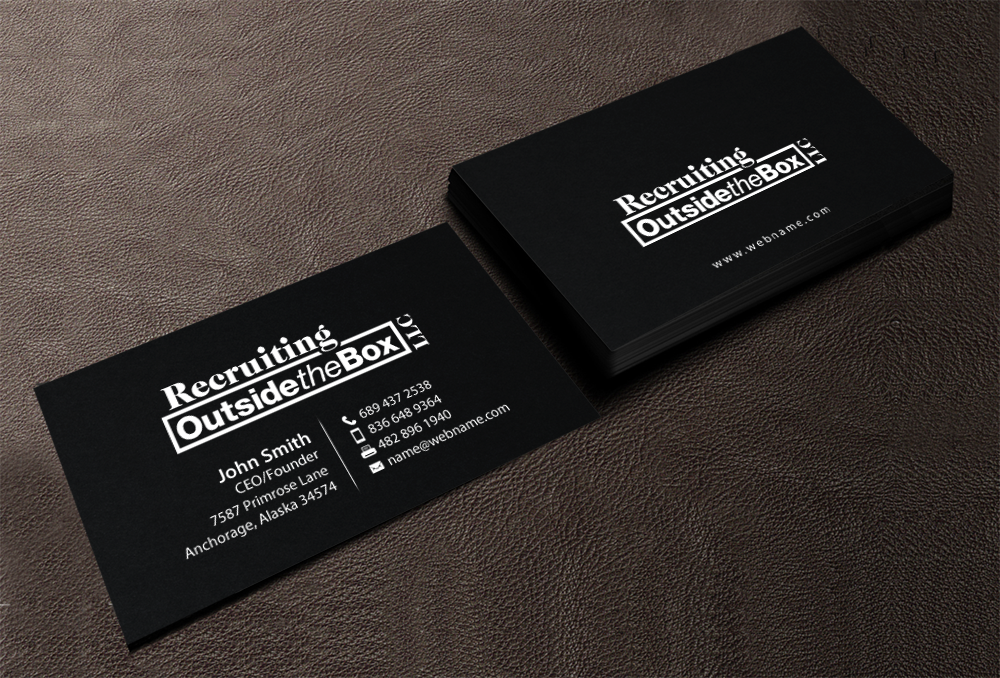 Business business card design for recruiting outside the box llc by business business card design for recruiting outside the box llc in united states design 10375132 colourmoves