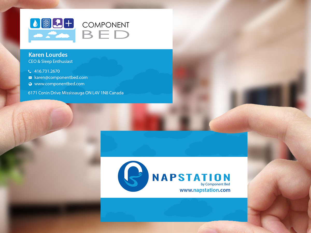 Modern playful health and wellness business card design for business card design by creations box 2015 for componentbed inc design 10413630 reheart Choice Image