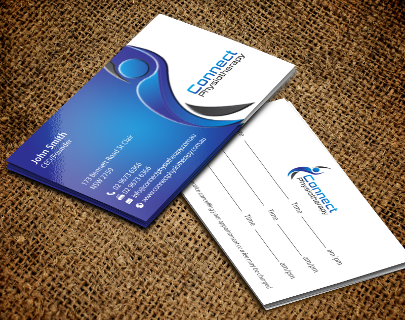 Modern professional physical therapy business card design for a business card design by chandrayaaneative for this project design 10389721 colourmoves