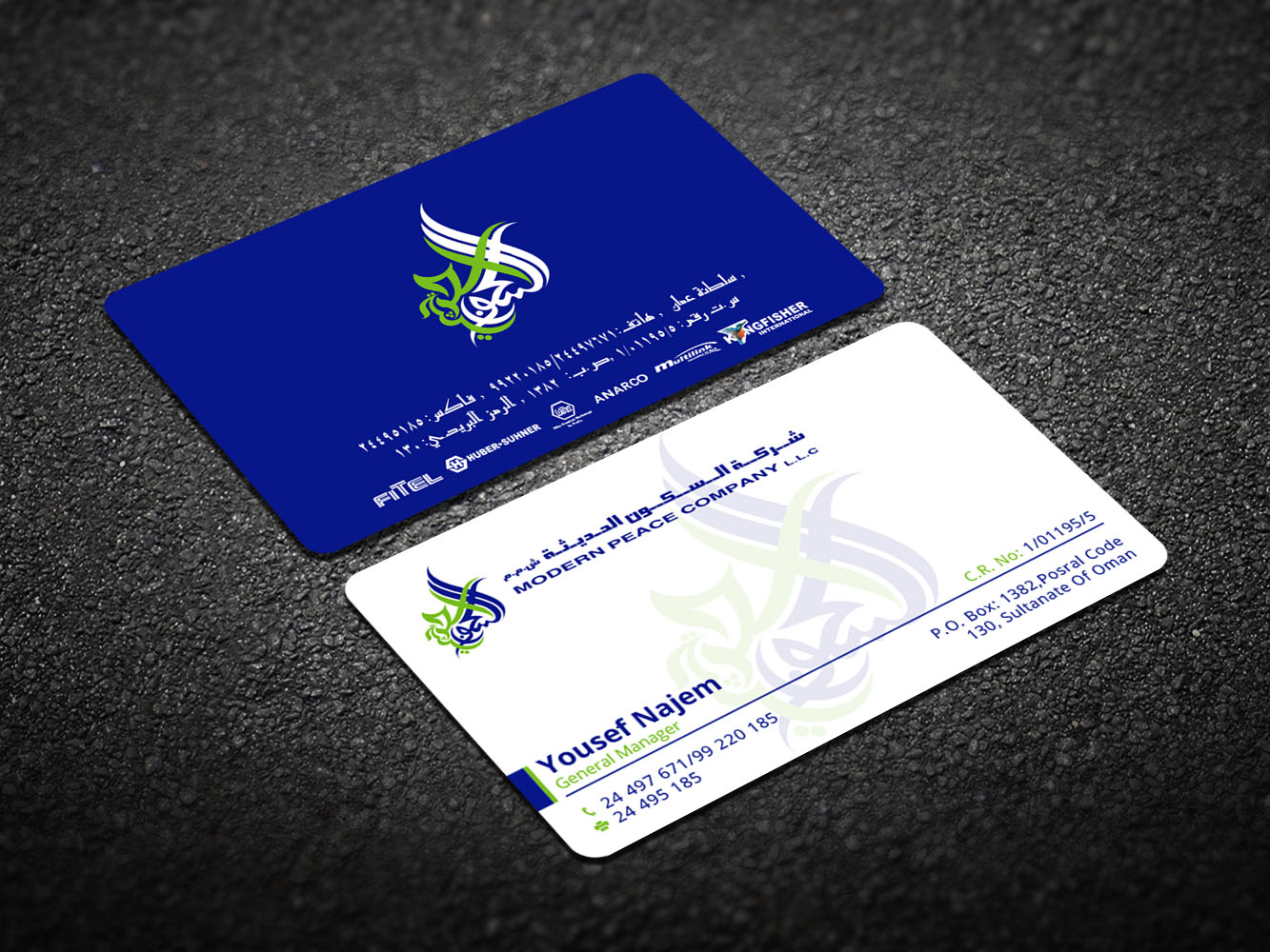Modern, Professional Business Card Design for Modern Peace Company ...