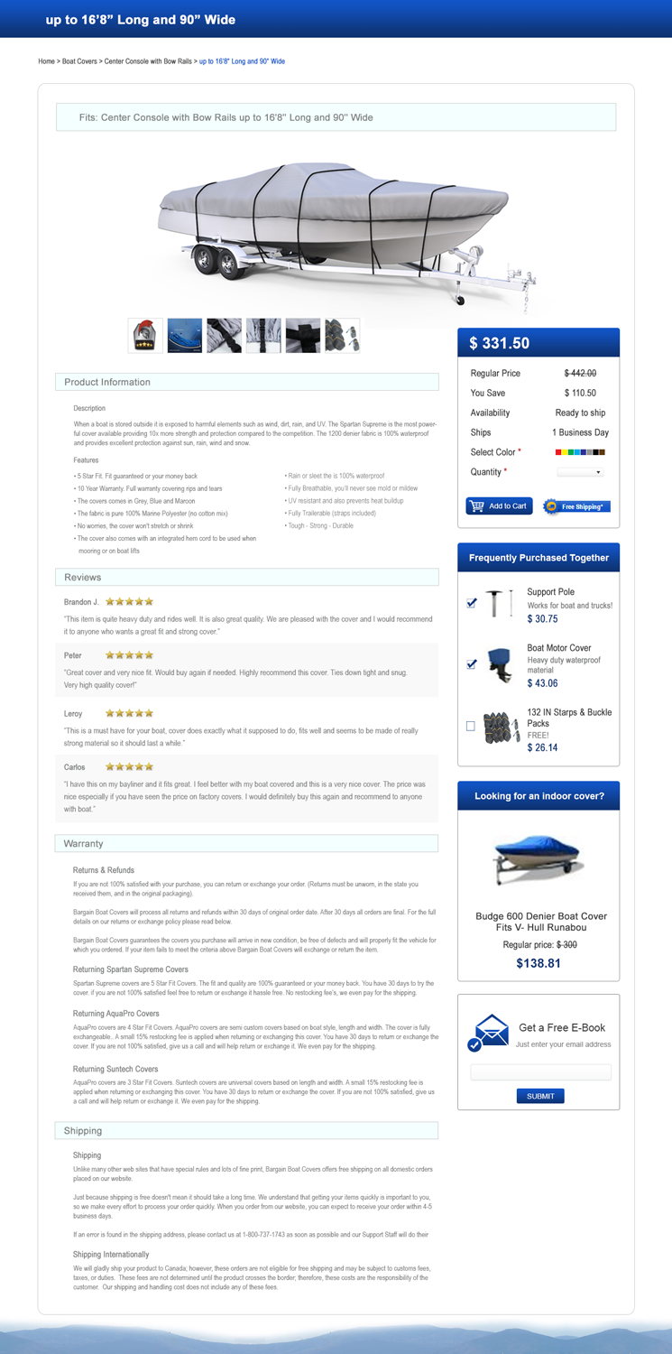 Bold, Modern, Online Shopping Web Design for a Company by